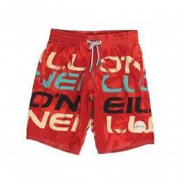 ONeill Boys Stack Boardshorts Red AOP