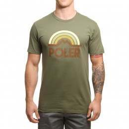 Poler Mountain Rainbow Tee Olive