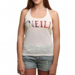 ONeill Print Racerback Top Powder White