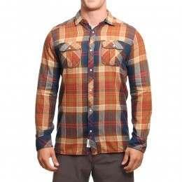 ONeill Violator L/S Shirt Brown AOP W/Blue