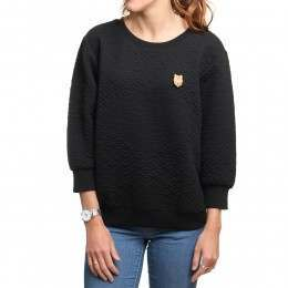 ONeill Quilted Crew Sweatshirt Black Out
