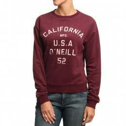 ONeill Easy Crew Sweatshirt Fig Red