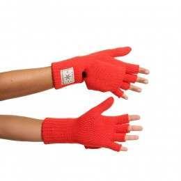 ONeill Dawn Knit Fingerless Gloves Poppy Red