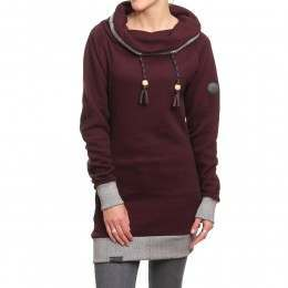 Shisha Klaasje Long Hoody Ruby Red Melange