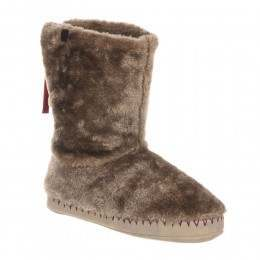 Animal Bollo Slipper Boots Taupe