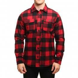 Nike SB Holgate Plaid L/S Shirt Gym Red