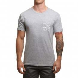 Poler Land And Sea Tee Grey Heather