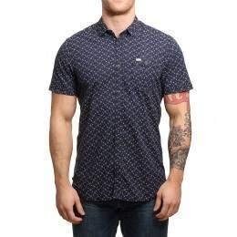 ONeill Ocean S/S Shirt Blue AOP/White