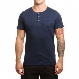 ONeill Jacks Base Henley Tee Ink Blue