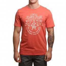 ONeill Waves & Palms Tee Burnt Sienna