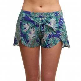 ONeill Tie Front Holiday Shorts Blue/Green