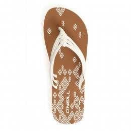 ONeill 3 Strap Ditsy Sandals Powder White