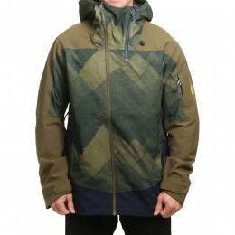 ONeill Jones Contour Snow Jacket Green AOP
