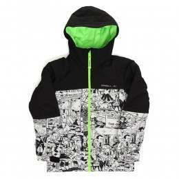 ONeill Boys Hubble Snow Jacket White AOP