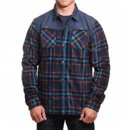 ONeill Hybrid Fleece Shirt Blue AOP