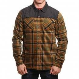 ONeill Hybrid Fleece Shirt Green AOP