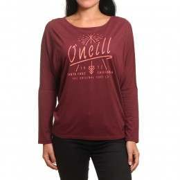 ONeill Squaw Valley Long Sleeve Top Current Red
