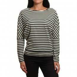 ONeill Essentials Striped L/S Top Green/White