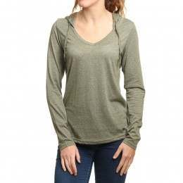 ONeill Marrly Long Sleeve Top Dark Olive