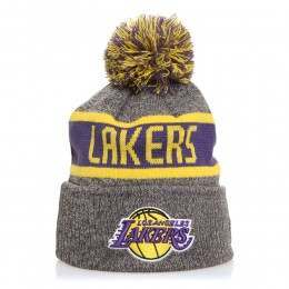 New Era NBA Los Angeles Lakers Bobble Knit Beanie