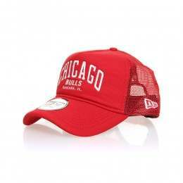 New Era Chicago Bulls Chainstitch Trucker Cap Red