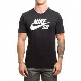 Nike SB Logo Tee Black/Black-White