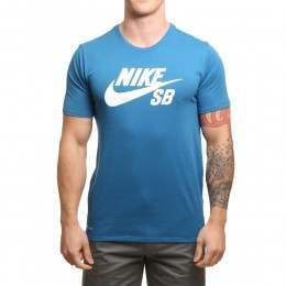 Nike SB Logo Tee Industrial Blue/White