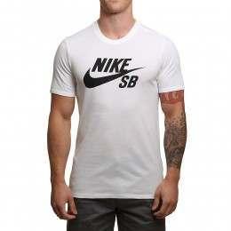 Nike SB Logo Tee White/White-Black
