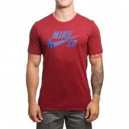Nike SB Logo Tee Team Red/Royal Blue