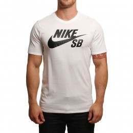 Nike SB Logo Tee White/Black