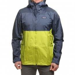 Patagonia Torrentshell Jacket Blue/Gecko Green