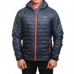 Patagonia Nano Puff Hoody Navy Blue/Red