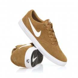 Nike SB Check Solar Shoes Golden Beige/White