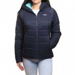 Patagonia Womens Hyper Puff Hoody Jacket Navy Blue