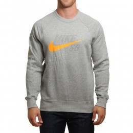 Nike SB Icon Graphic Crew Grey/Orange