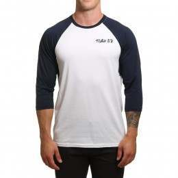 Nike SB Dri Fit 3/4 Sleeve Top White/Obsidian