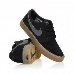 Nike SB Boys Portmore II Shoes Black/Dark Grey-Gum