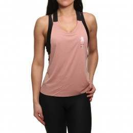 Hurley Quick-Dry Mesh Tank Rust Pink Htr