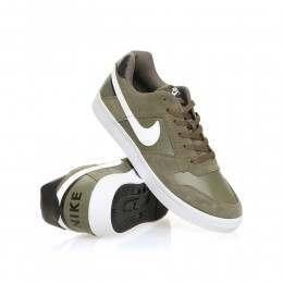 Nike SB Delta Force Vulc Shoes Med Olive/White