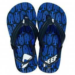 REEF BOYS AHI PRINTS SANDALS Black/Royal