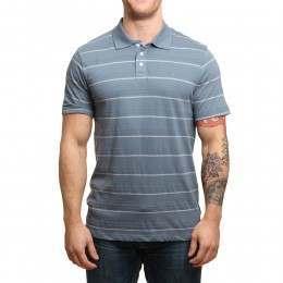 Volcom Wowzer Stripe Polo Shirt Ash Blue