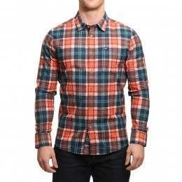 Volcom Hayden Flannel Shirt Papaya