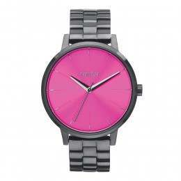 Nixon The Kensington Watch Gunmetal/Pink Sunray