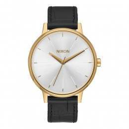 Nixon The Kensington Leather Watch Gold/Blk Gator