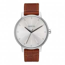 Nixon The Kensington Leather Watch Silve/Sad Gator