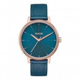 Nixon The Kensington Leather Watch Rose Gold/Teal