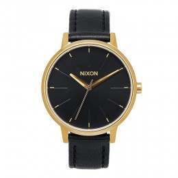 Nixon The Kensington Leather Watch Gold/Black