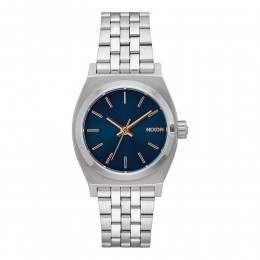 Nixon The Medium Time Teller Watch Navy/Rose Gold