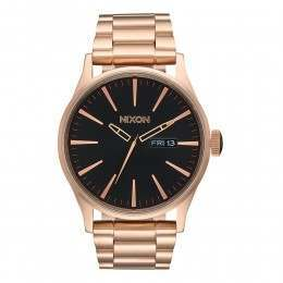 Nixon The Sentry SS Watch All Rose Gold/Black
