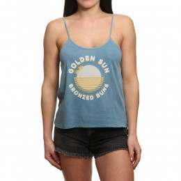 Amuse Society Bottoms Up Tank Riviera Blue